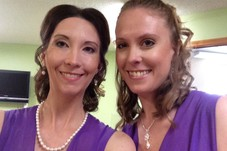 Beautiful Ladies wearing some of my amazing Airbrush makeup for a wedding!