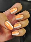 Creamsicle Nails