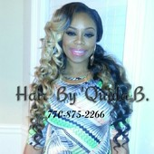 SHAY JOHNSON FROM VH1 LOVE AND HIP HOP RECEIVED WAND CURLS.