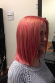 PASTEL PINK with POWDER PINK hilts <3