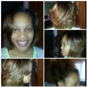 Natural Hair Client!  Blowout