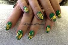 Emerald Glitter with Foil