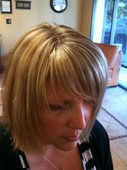 Full highlights 2 tone and razor cut