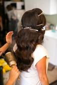 My day doing bridal hair :)