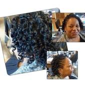 Two Strand Twist w/ Spiral Curl