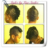 Braided updo no hair addded