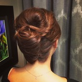 Wedding hair - modern french twist.