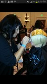 Doing make up at paul mitchell gathering 2013