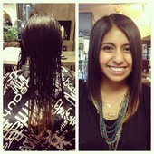 Before and After trendy cut