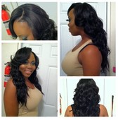 Full sew-in with natural leave out
