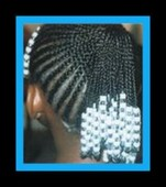 kids hair braided with beads