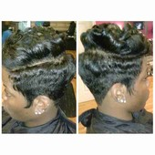 Relaxer, cut , and style
