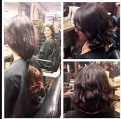 Before & After Subtle color and cut - 12 inches cut for Locks of Love