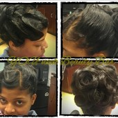 Up-do on Natural hair
