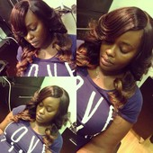 full sew in with lace closure.