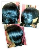 Natural Hair Blowout/Layered Cut