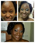 Tekara's Before and After Makeup for her Military Ball.