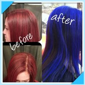 Before a Bright Red, Now a Blue/Purple with Brown!