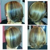 CLIENT GETS 1ST COLOR EVER! Custom Color Blend & Natural Hair Blowout