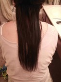 After we straightened some of her hair with the new Paul Mitchell  Neuro Smooth flat iron after one pass through.