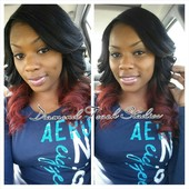 Custom color . Curls