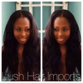 Virgin Indian Wavy Hair from LushHairImports.com  Full Head Weave w/ Minimal Hair Out