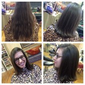 Locks of Love donation. 11 inches off and still left with a shoulder length sassy cut and style!