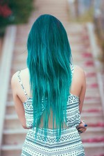 I turned my best riend into a mermaid! turquoise love for the summer