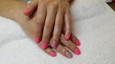 Natural Nails with Gel Polish & Artiglio Glitter