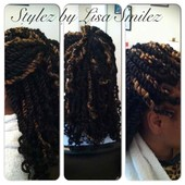 Marley twist curly tips
