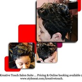 #1690892 MZ. KELLY(Hair Stylist & Essations Educator) Specialize in short styles & healthy hair's Appointment Photo taken in Kreative Touch @ Sophia Brandon Salon Boutique, Richton Park
