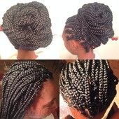 Box braids done and styled