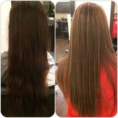 Before & after  Color&highlights