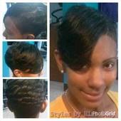 Relaxer, Cut, Mold &Curl w/ Bond Weave
