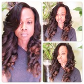 Full weave with silk base closure