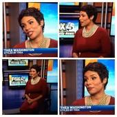 TV makeup for Thea Washington