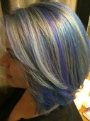 Silver and blue trend color!