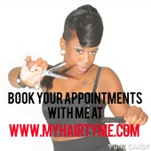 Let's set a date !you can book directly with me on my web site www.myhairtyme.com