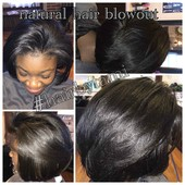 All natural healthy hair. Blowout