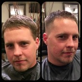 Men's haircut..
