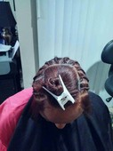 "Express Extensions Plus  braid pattern for inexpensive sew in.  ""Fast~Flat~Flawless"""