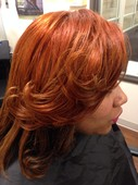 Fantasy color (double process) and ombr? on natural hair