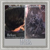 "Sew In Microlinks 22"" Extensions Jet Black"
