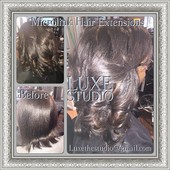 Retightening Service 5th Installation with Texturizer Service on Hair over 9 Months old with Custom Highlights added.