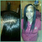 full weave with minimal leave out