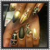 coffin set; prom nails