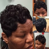 #2998923 MZ. KELLY(Hair Stylist & Essations Educator) Specialize in short styles & healthy hair's Appointment Photo taken in Kreative Touch @ Sophia Brandon Salon Boutique, Richton Park