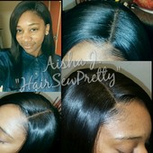 NHO see install with Lace Closure sewn in