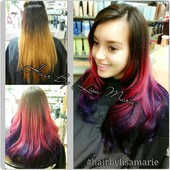 Pink and purple ombr