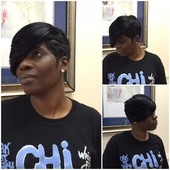 #3280840 MZ. KELLY(Hair Stylist & Essations Educator) Specialize in short styles & healthy hair's Appointment Photo taken in Kreative Touch @ Sophia Brandon Salon Boutique, Richton Park